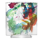 Amani African American Nude Fine Art Painting Print 4974.03 Shower Curtain