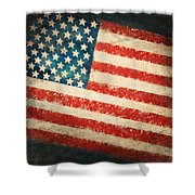 America Flag Shower Curtain by Setsiri Silapasuwanchai