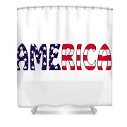 America Stars And Stripes Shower Curtain