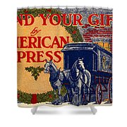 American Express Shipping Shower Curtain