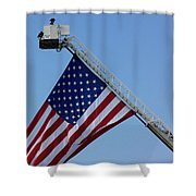 American Firefighter Shower Curtain