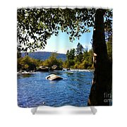 American River Through The Trees Shower Curtain