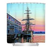 Amerigo Vespucci Tall Ship Shower Curtain