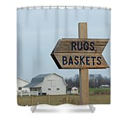 Amish Sign Shower Curtain