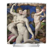 An Allegory With Venus And Cupid Shower Curtain