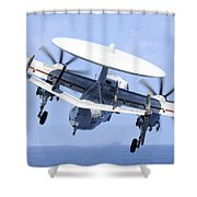 An E-2c Hawkeye Launches Shower Curtain