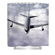 An E-8c Joint Surveillance Target Shower Curtain