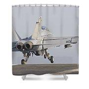 An Fa-18f Super Hornet Taking Shower Curtain