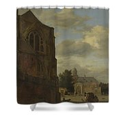 An Imaginary View Of Nijenrode Castle Shower Curtain