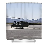 An Oh-58 Kiowa Helicopter Of The U.s Shower Curtain