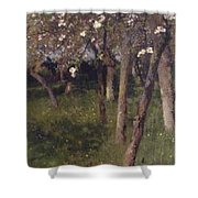 An Orchard Shower Curtain