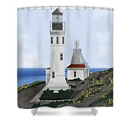 Anacapa Lighthouse California Shower Curtain
