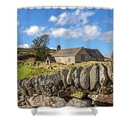 Ancient Welsh Church Shower Curtain