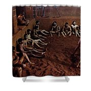 ancient wrestlers of India  Shower Curtain