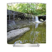 Anderson, Falls, Indiana Shower Curtain
