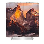 Andes Mountains Shower Curtain