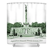 Angel Of Peace Memorial, Munich, Germany, 1903 Shower Curtain