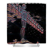 Angel Of The North Shower Curtain