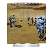 Angels Of The Sand Shower Curtain