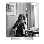 Angus Young Ac/dc Shower Curtain