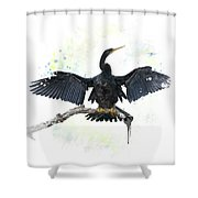 Anhinga Bird Shower Curtain