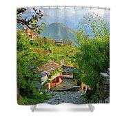 Annapurna Village Shower Curtain