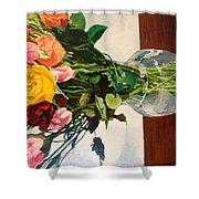 Anniversary Flowers  Shower Curtain