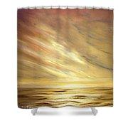 Another Golden Sunset Shower Curtain