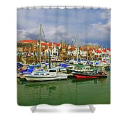 Anstruther Harbor Shower Curtain