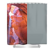 Antelope Canyon Vertical Shower Curtain