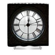 Antique Backlit Clock Shower Curtain