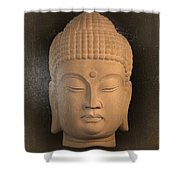antique oil effect Buddha Korean ,, Shower Curtain