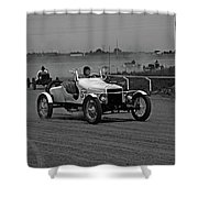 Antique Races Black And White Shower Curtain