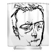 Anton Von Webern Shower Curtain