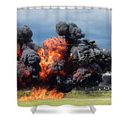 Boeing Apache Longbow  Helicopter Exercise Shower Curtain