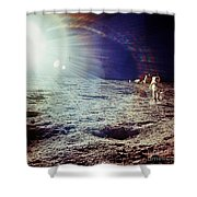 Apollo 12 Astronaut Shower Curtain