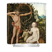 Apollo And Diana Shower Curtain