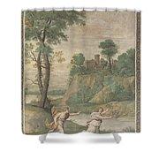 Apollo Pursuing Daphne Shower Curtain