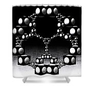 Apollonian Gasket Shower Curtain