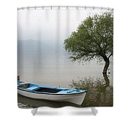 Apolyont Lake Shower Curtain