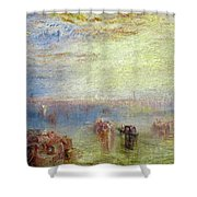 Approach To Venice Shower Curtain