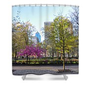 April In Rittenhouse Square Shower Curtain
