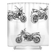 Aprilia Smv 900 Dorsoduro Drawing Shower Curtain