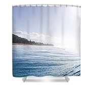 Aqua Ramp - Triptych Part 2 Of 3. Shower Curtain