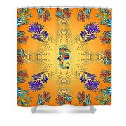 Aquarium Glow Oranges Shower Curtain