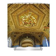 Architectural Artistry Within The Vatican Museum In The Vatican City Shower Curtain