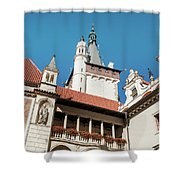 Architecture Details Of Pruhonice Castle Shower Curtain