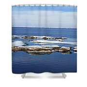 Arctic Ice Shower Curtain