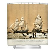 Arctic Ocean Shower Curtain