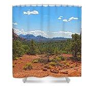 Arizona-sedona-soldier's Pass Trail Shower Curtain